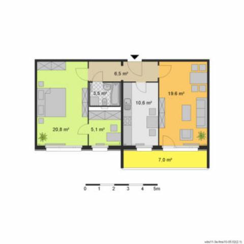 квартира в Берлине для 2-6 человек