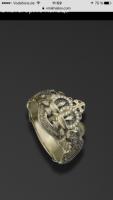 Кольцо золотое новое с бриллиантами